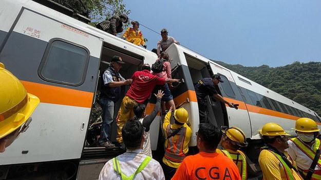 Miejsce katastrofy /Hualien Speedy News hsnews.com.tw HANDOUT /PAP/EPA