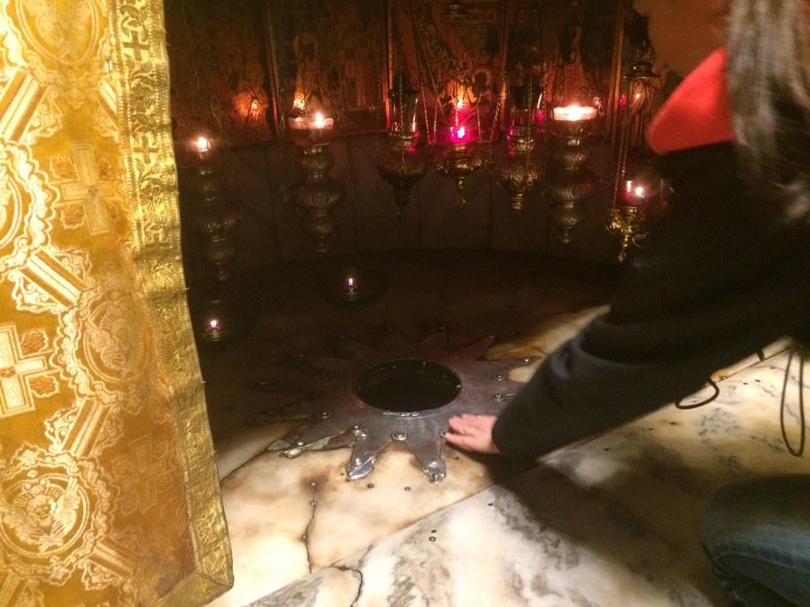 Miejsce narodzenia Jezusa w Bazylice Narodzenia Pańskiego w Betlejem /Piotr Bułakowski /RMF FM