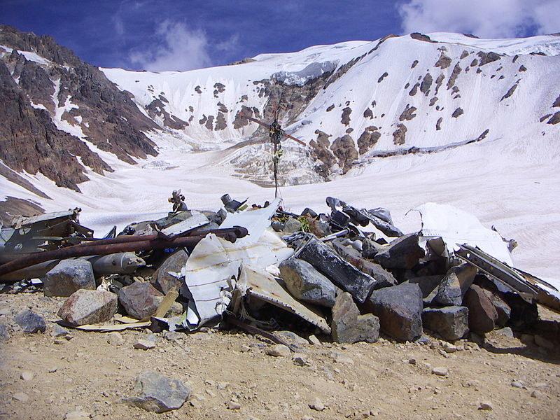 Miejsce obozowiska rozbitków. Stąd Canessa, Parrado i Vizintin wyruszyli szukać ocalenia. Fot: Wikipedia /Internet