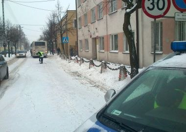 Miejsce potrącenia 11-latki /KWP Łódź