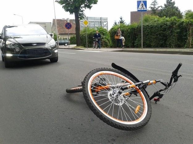 Miejsce potrącenia 9-letniego rowerzysty /KWP Gorzów Wielkopolski