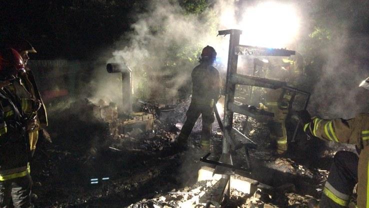 Miejsce pożaru; źródło: Straż pożarna w Pile /Polsatnews.pl