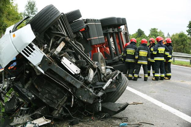 Miejsce śmiertelnego wypadku /Tomasz Gzell /PAP