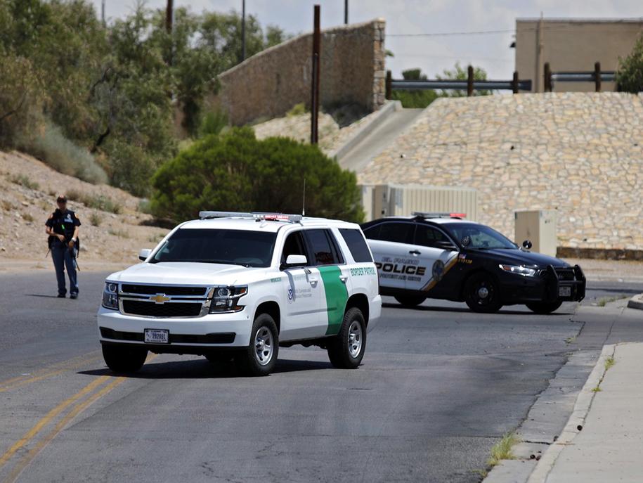 Miejsce strzelaniny w El Paso /IVAN PIERRE AGUIRRE /PAP/EPA