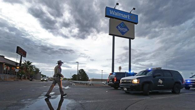 Miejsce strzelaniny w El Paso /LARRY W. SMITH /PAP/EPA