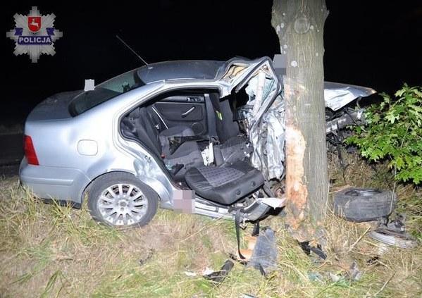 Miejsce tragicznego wypadku w Józefowie /Policja
