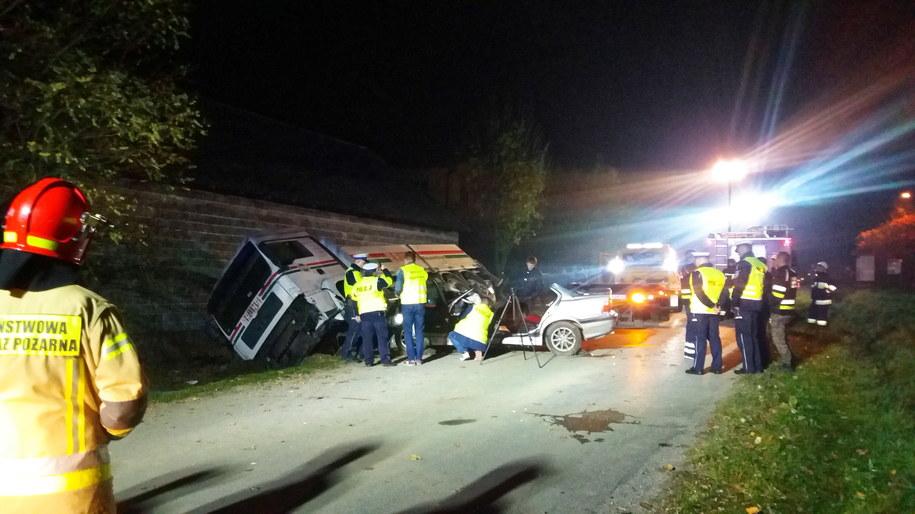 Miejsce tragicznego wypadku w miejscowości Niegardów-Kolonia w powiecie proszowickim w Małopolsce /Łukasz Gagulski /PAP