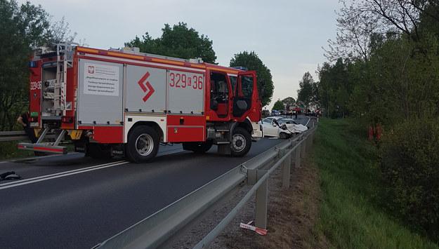 Miejsce tragicznego wypadku w Woli Filipowskiej /Słuchacz RMF FM /Gorąca Linia RMF FM
