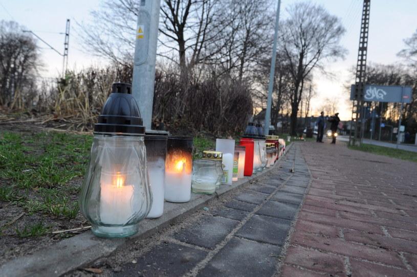 Miejsce, w którym doszło do tragicznego wypadku. /Marcin Bielecki /PAP