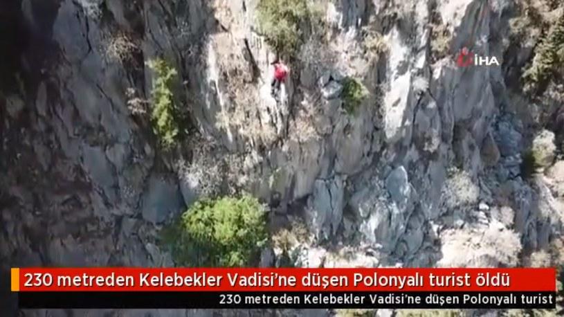 Miejsce, w którym doszło do wypadku w tureckiej Dolinie Motyli; Dailymotion.com /