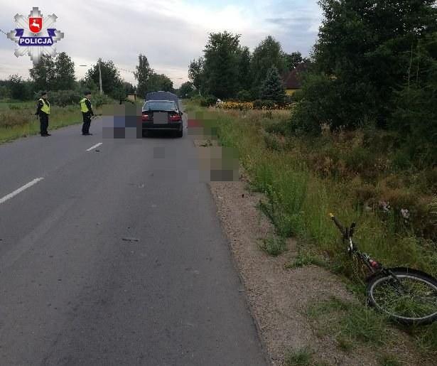 Miejsce, w którym doszło do wypadku /KPP Włodawa /Policja