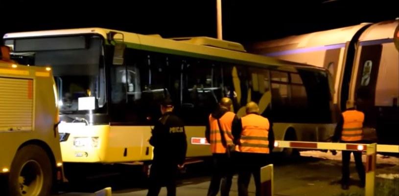 Miejsce, w którym doszło do zderzenia /Nowodworski24 /YouTube