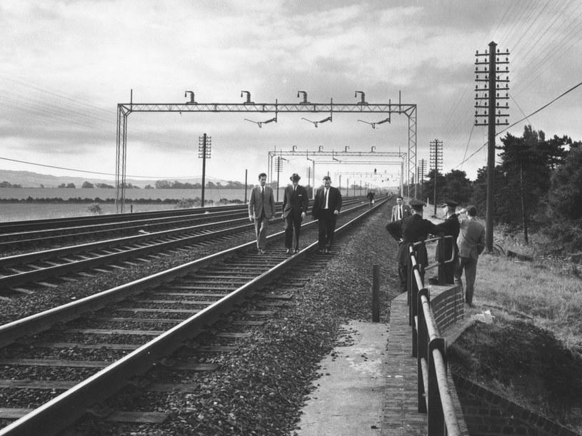 Miejsce, w którym rabusie zatrzymali pociąg /materiały prasowe