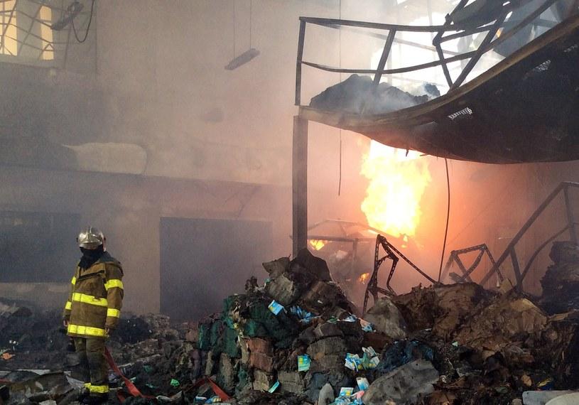 Miejsce wybuchu bomby /AFP