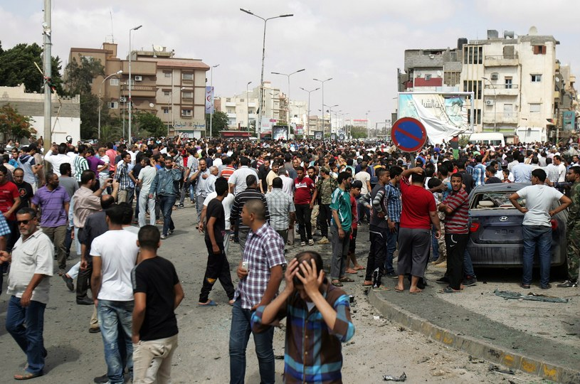 Miejsce wybuchu /ABDULLAH DOMA /AFP