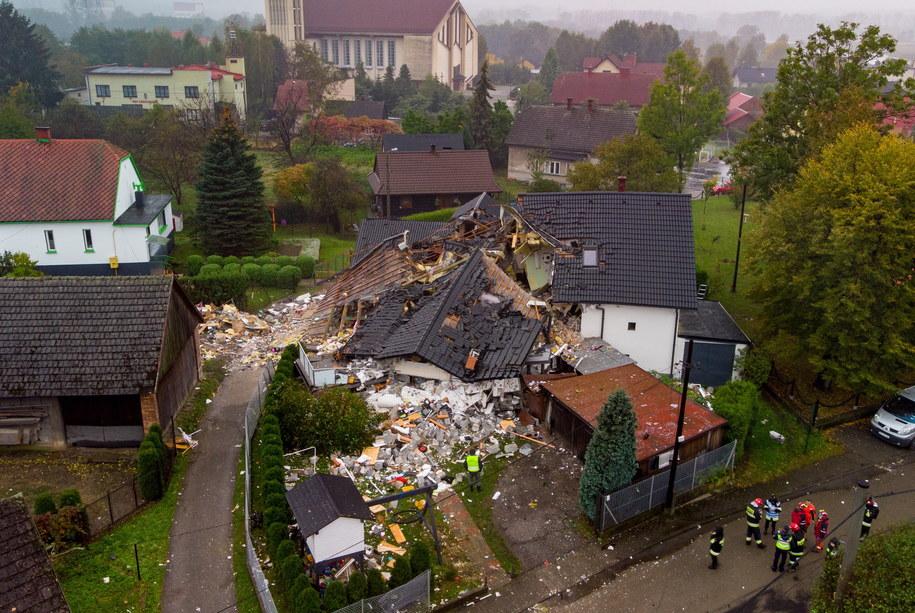 Miejsce wybuchu / Andrzej Grygiel    /PAP
