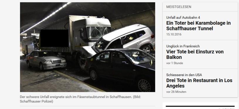 Miejsce wypadku, fot. http://www.nzz.ch /