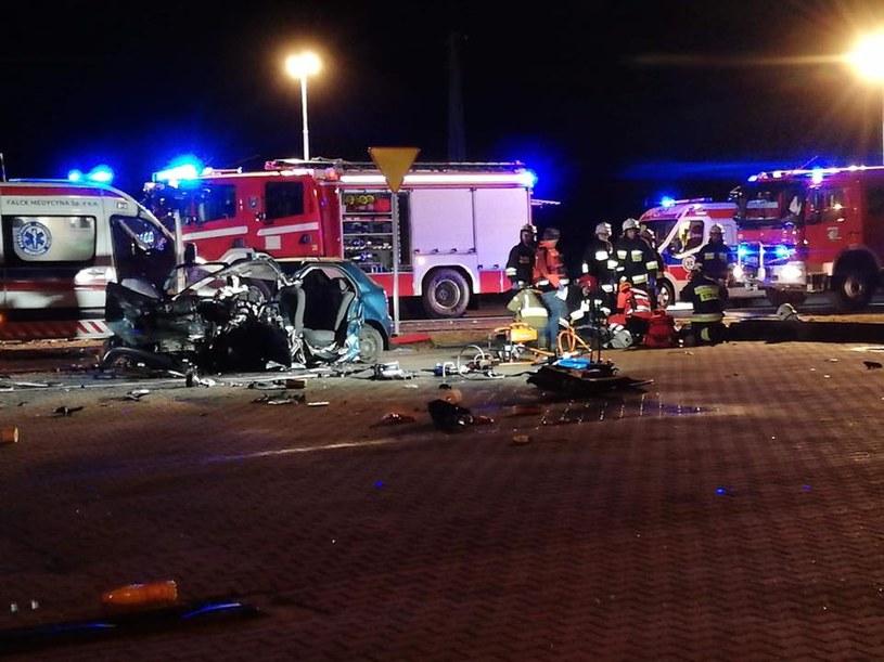 Miejsce wypadku / Fot: Straż Pożarna /