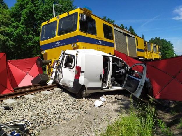Miejsce wypadku kolejowego /fot. KPP Dębica /