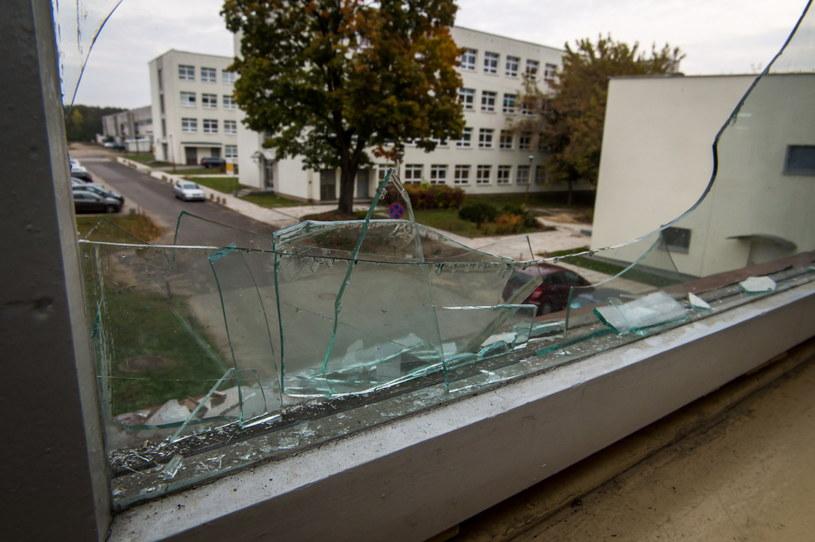 Miejsce wypadku - łącznik między budynkami /Tytus Żmijewski /PAP