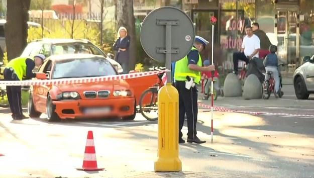 Miejsce wypadku na Bielanach /TVN24/x-news