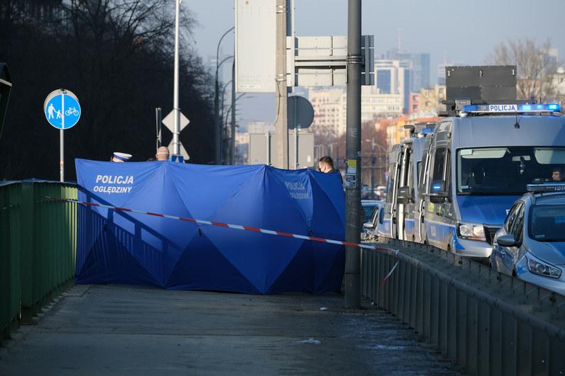 Miejsce wypadku na ulicy Grójeckiej w Warszawie /Mateusz Grochocki /East News
