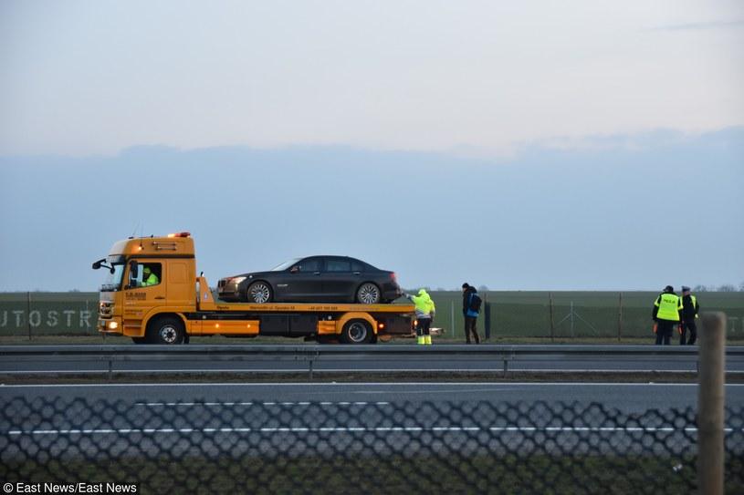 Miejsce wypadku prezydenckiej limuzyny /BRZEG24.PL /East News