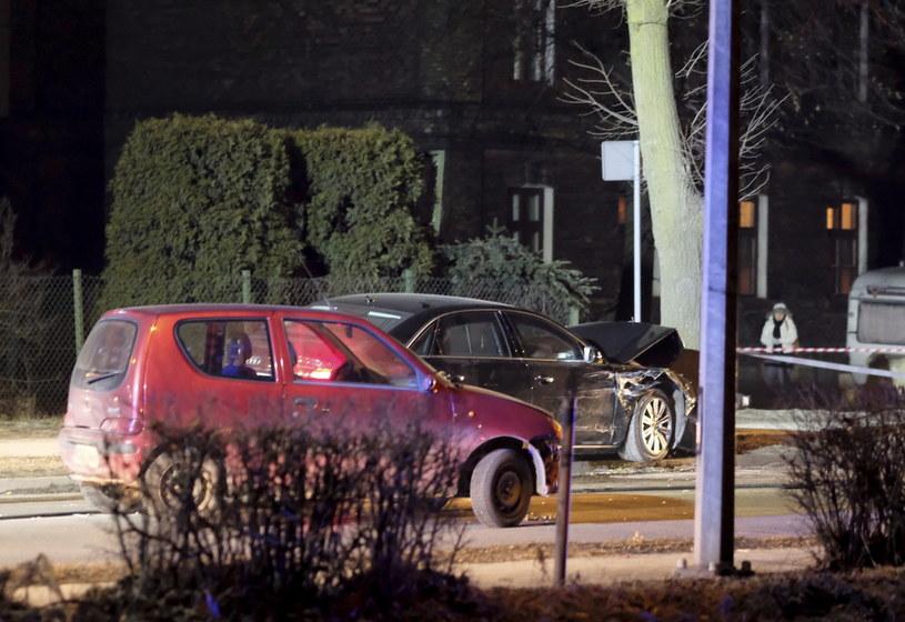 Miejsce wypadku samochodowej kolumny rządowej z udziałem premier Beaty Szydło /Andrzej Grygiel /PAP