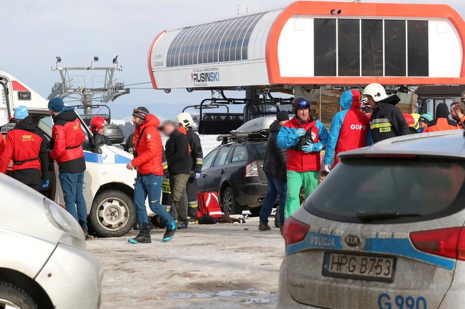 Miejsce wypadku w Bukowinie Tatrzańskiej / Grzegorz Momot    /PAP