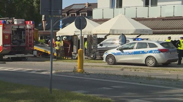 Miejsce wypadku w Jastarni /Polsatnews.pl