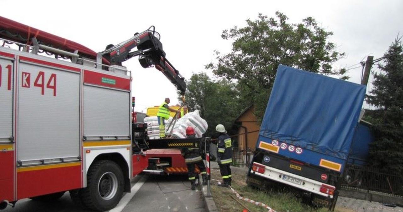 Miejsce wypadku w Łapczycy
