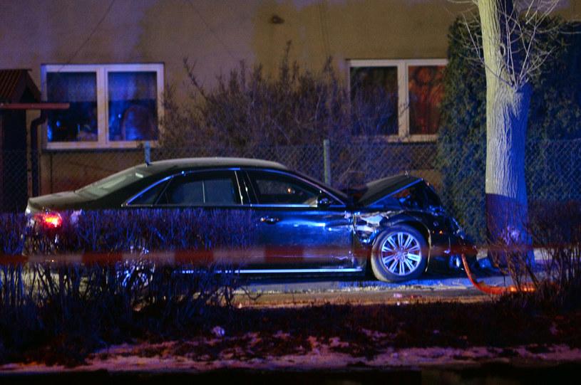 Miejsce wypadku z udziałem premier Beaty Szydło w Oświęcimiu /Fot. Lukasz Kalinowski /East News