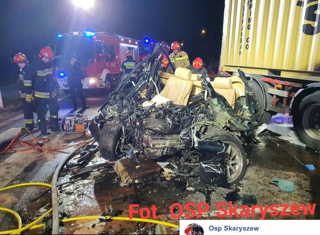 Miejsce wypadku; źródło: OSP Skaryszew /