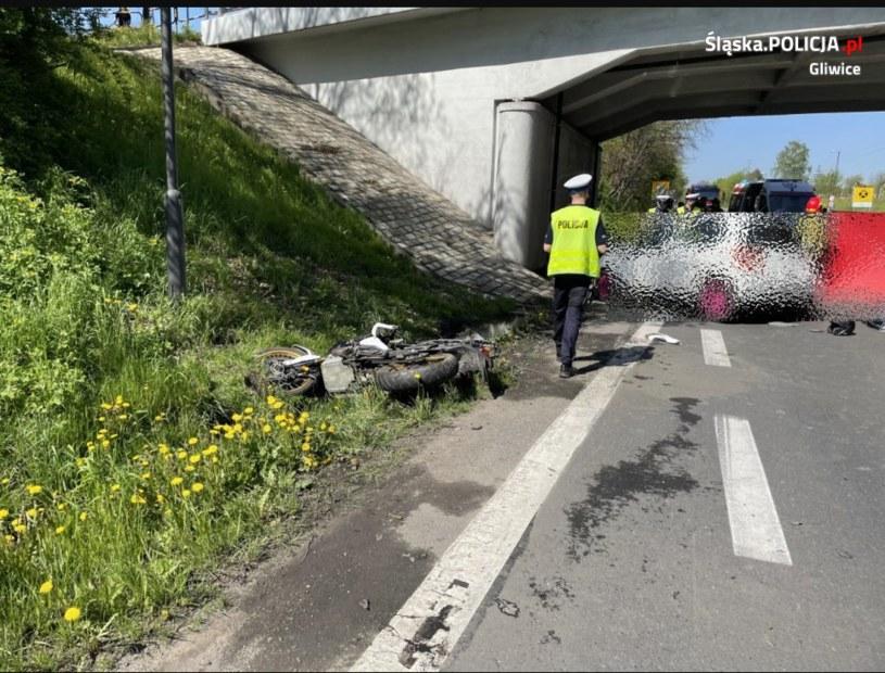 Miejsce wypadku, źródło: Policja Gliwice /