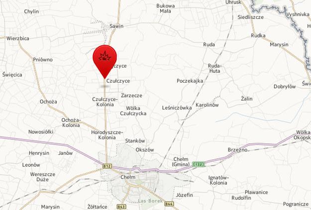 Miejsce wypadku /Map24.interia.pl