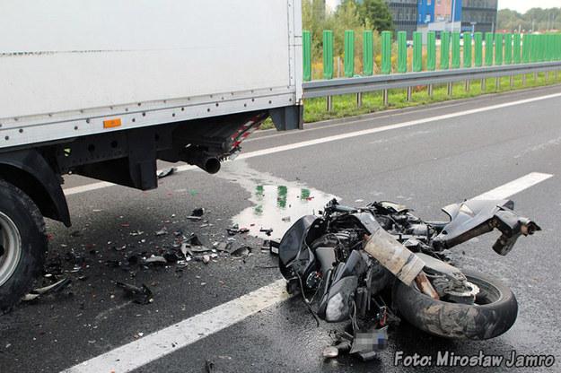 Miejsce wypadku /Mirosław Jamro/www.bielsko.biala.pl /Policja