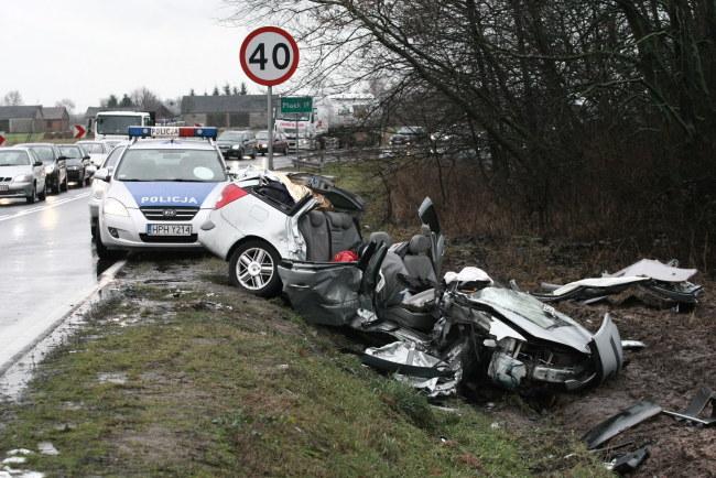 Miejsce wypadku /Marcin Bednarski /PAP