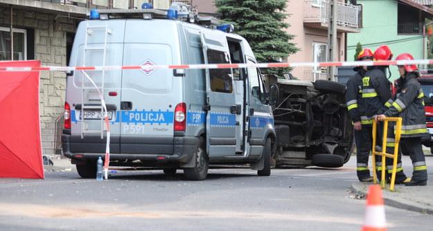 Miejsce wypadku /Andrzej Grygiel /PAP