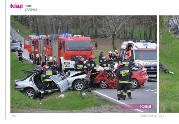 Miejsce wypadku /Kontakt 24 /