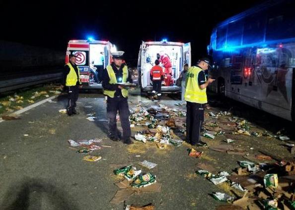 Miejsce wypadku /Policja