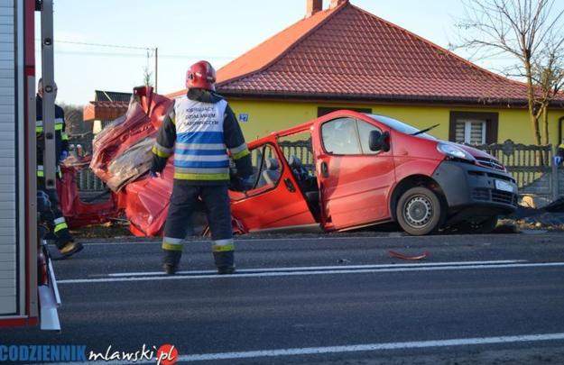 Miejsce wypadku /codziennikmlawski.pl /RMF