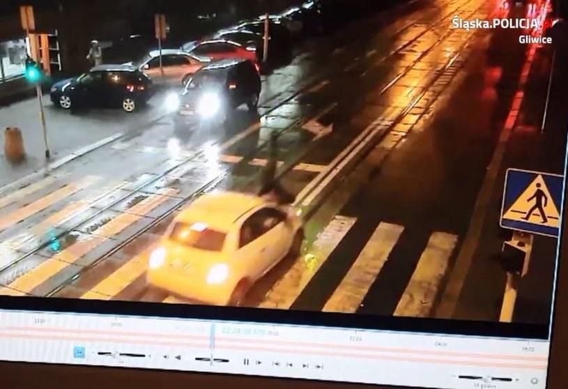 Miejsce wypadku /Policja /