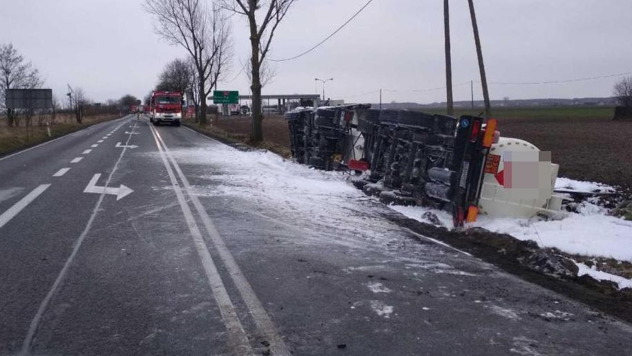Miejsce wypadku /KPSP Radziejów /PSP