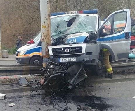 Miejsce wypadku /Gorąca Linia RMF FM