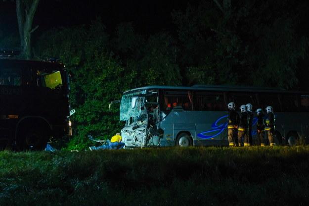 Miejsce wypadku /Hanna Bardo /PAP