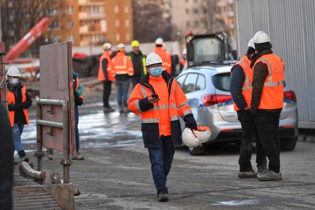 Miejsce wypadku /Piotr Nowak /PAP