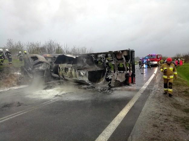 Miejsce wypadku /PSP