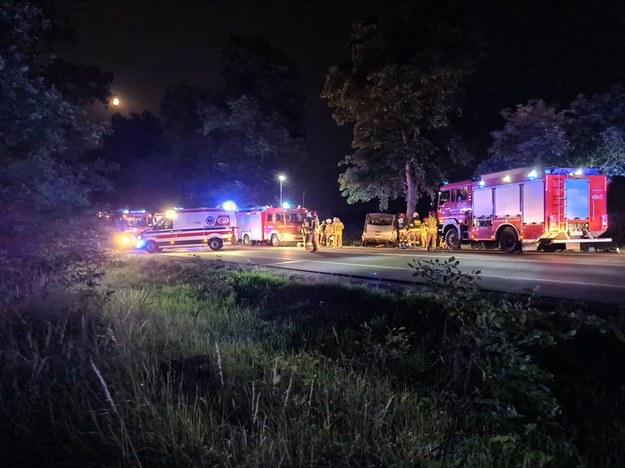 Miejsce wypadku /Marcin Repczyc /Gorąca Linia RMF FM