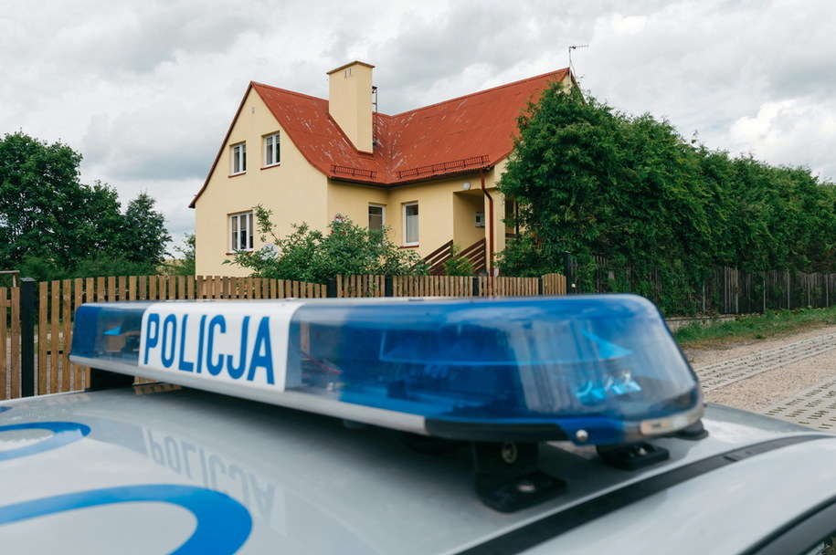 Miejsce zabójstwa w Krzemieniewie (Pomorskie) /Marcin Gadomski /PAP