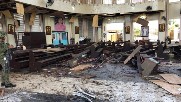Miejsce zamachu bombowego /WESTMINCOM / HANDOUT /PAP/EPA